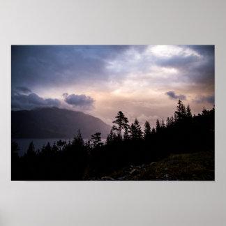 Sunset de Hordaland over Poster