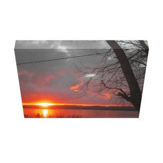 Sunset Impressão De Canvas Envolvida
