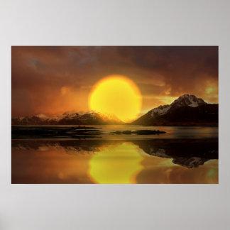 Sunset-landscape-Ver.10 Pôster