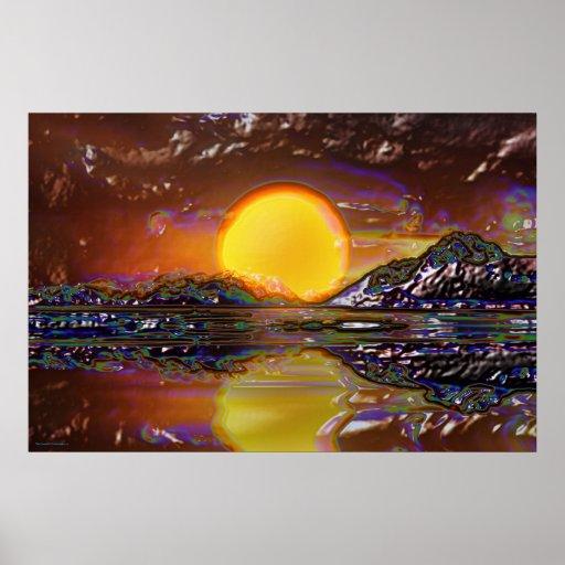 Sunset-landscape-Ver.11 Posters