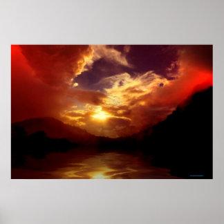 Sunset-landscape-Ver.14 Poster