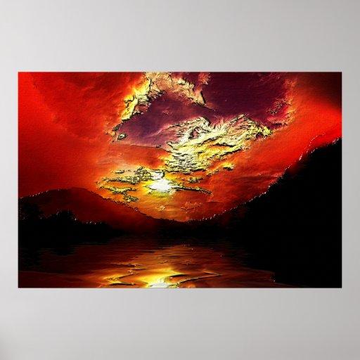 Sunset-landscape-Ver.16 Posters