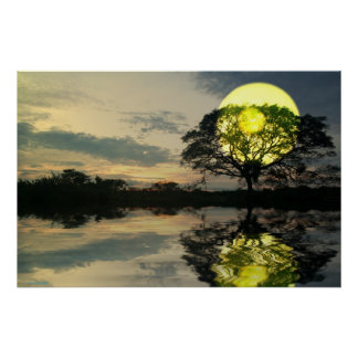 Sunset-landscape-Ver.4 Poster