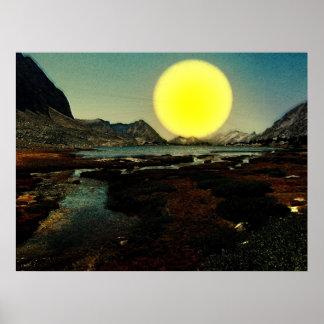 Sunset-landscape-Ver.6 Poster