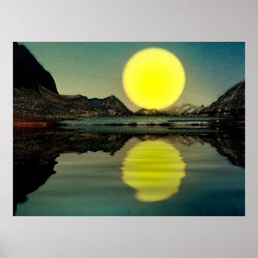 Sunset-landscape-Ver.7 Pôsteres