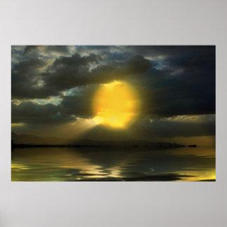 Sunset-landscape-Ver.8 Poster