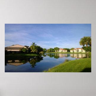 Sunshine state Florida, paisagem bonita Pôster
