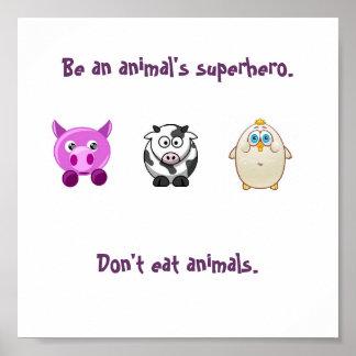 Super-herói animal pôster