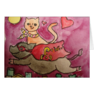 Super-herói de meu cartão dos sonhos
