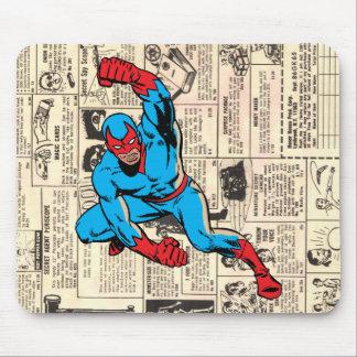 Super-herói na engrenagem da ação! mouse pad