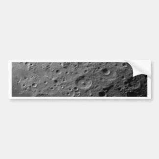 Superfície da lua adesivo para carro
