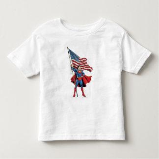 Superman que guardara a bandeira dos E.U. Camisetas