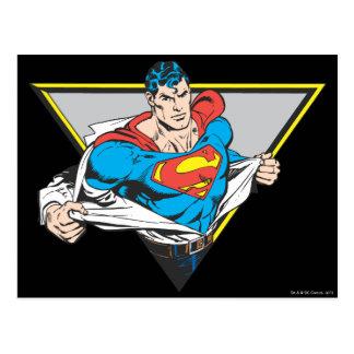 Superman revelado cartão postal