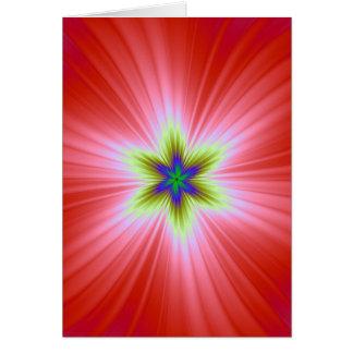 Supernova no cartão vermelho