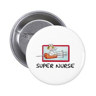 supernurse - enfermeira cómico dos desenhos animad botons