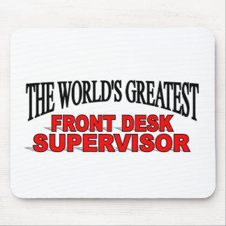 Supervisor da recepção do mundo o grande mousepads