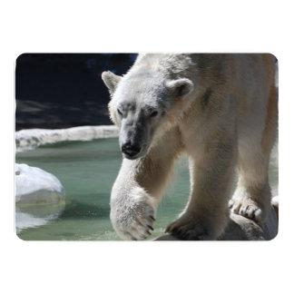 Suportando o urso polar convite 12.7 x 17.78cm