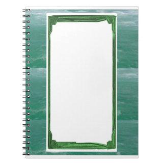 Suporte da imagem/texto da beira do verde de mar cadernos