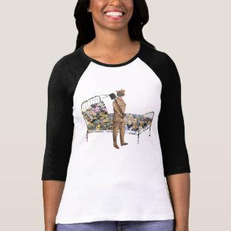 Suporte de jardinagem do tshirt do gato engraçado