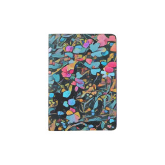 Suporte floral abstrato do passaporte capa para passaporte