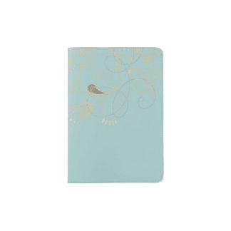 Suporte floral do passaporte capa para passaporte