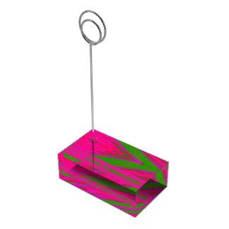 Suporte Para Cartao De Mesa Abanada cor-de-rosa brilhante da cor verde