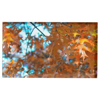 Suporte Para Cartão De Mesa Folhas da queda