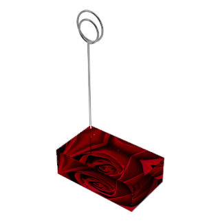 Suporte Para Cartao De Mesa Titular do cartão da mesa da rosa vermelha