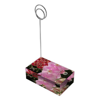 Suporte Para Cartoes De Mesa Flores cor-de-rosa da orquídea