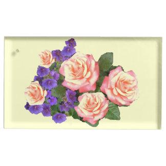 Suporte Para Cartões De Mesa Suporte cor-de-rosa do lugar da mesa do casamento