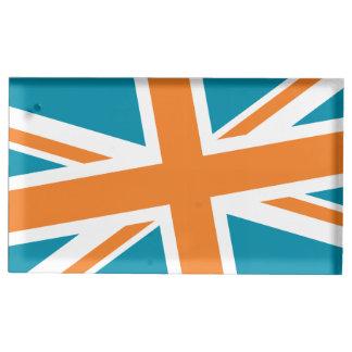 Suporte Para Cartoes De Mesa Suporte de Placecard da bandeira de união