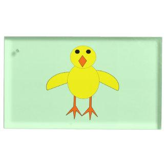 Suporte Para Cartões De Mesa Titular do cartão bonito da mesa do pintinho da