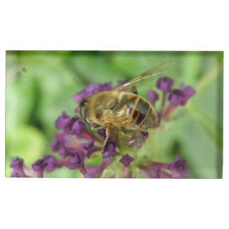 Suporte Para Cartões De Mesas Abelha e titular do cartão roxo da mesa das flores