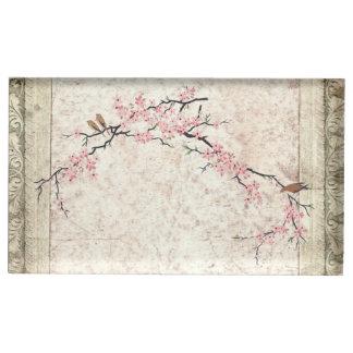 Suporte Para Cartoes De Mesas casamento do país da flor de cerejeira do chique
