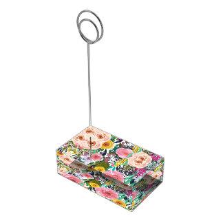 Suporte Para Cartões De Mesas Flores românticas da aguarela do jardim