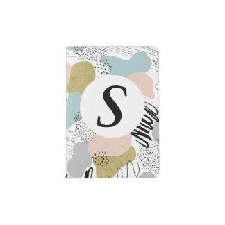 Suporte Pastel abstrato personalizado do Capa Para Passaporte