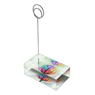 Suportes Para Cartão De Mesa Árvore abstrata impressionante da pintura de óleo