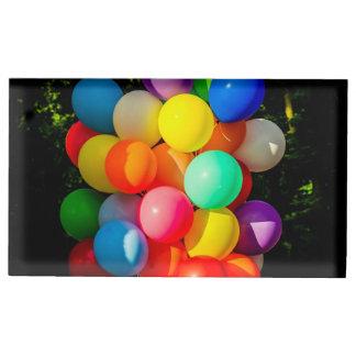 Suportes Para Cartão De Mesa Balões coloridos do brinquedo