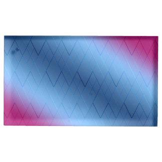 Suportes Para Cartão De Mesa Diamante cor-de-rosa e azul titular do cartão