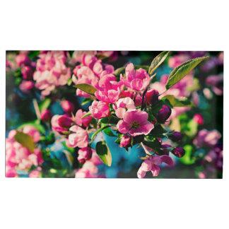 Suportes Para Cartão De Mesa Flores cor-de-rosa de Apple de caranguejo