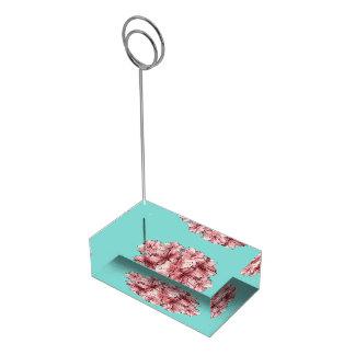Suportes Para Cartão De Mesa Fundo variável ilustrado rosa da hortelã da flor