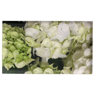 Suportes Para Cartao De Mesa Série verde branca do casamento do Hydrangea