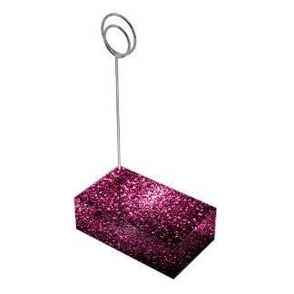Suportes Para Cartao De Mesa Sparkles cor-de-rosa bonitos do brilho