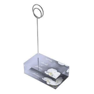 Suportes Para Cartoes De Mesa Titular do cartão branco da mesa da flor da
