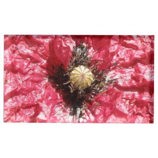 Suportes Para Cartões De Mesa Titular do cartão macro da mesa da flor vermelha