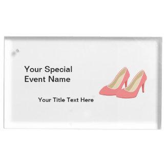 Suportes Para Cartões De Mesas Saltos altos cor-de-rosa - bombas femininos dos