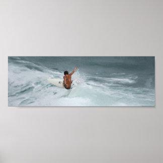 Surf acima! pôster