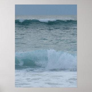Surf das ondas de quebra pôster