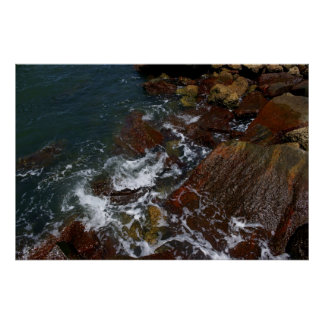 Surf nas rochas pôster