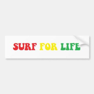 Surf para a etiqueta do rasta da vida adesivo para carro